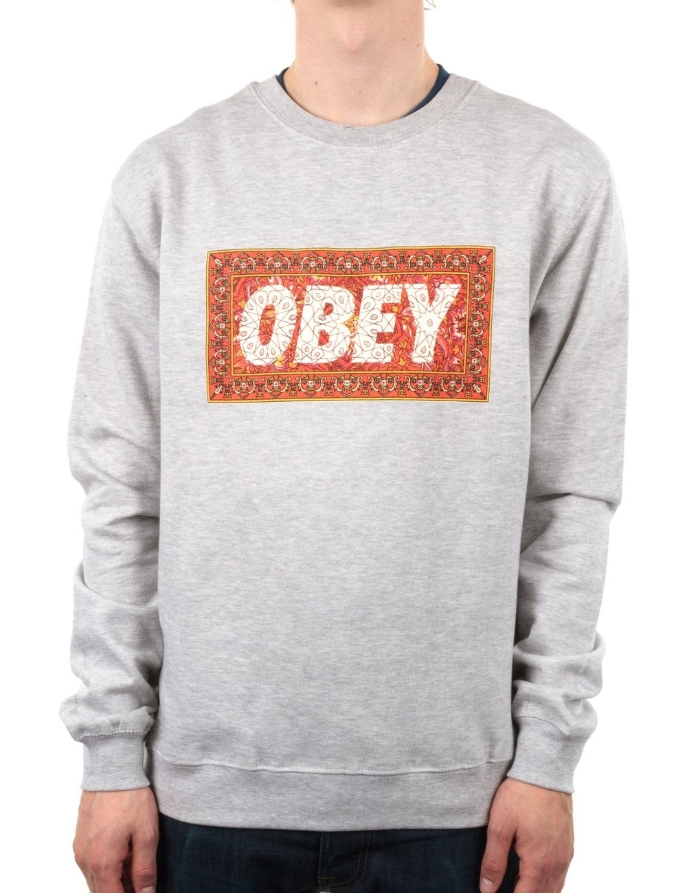 Obey Clothing Magic Carpet Crew - Heather Grey - Obey ...