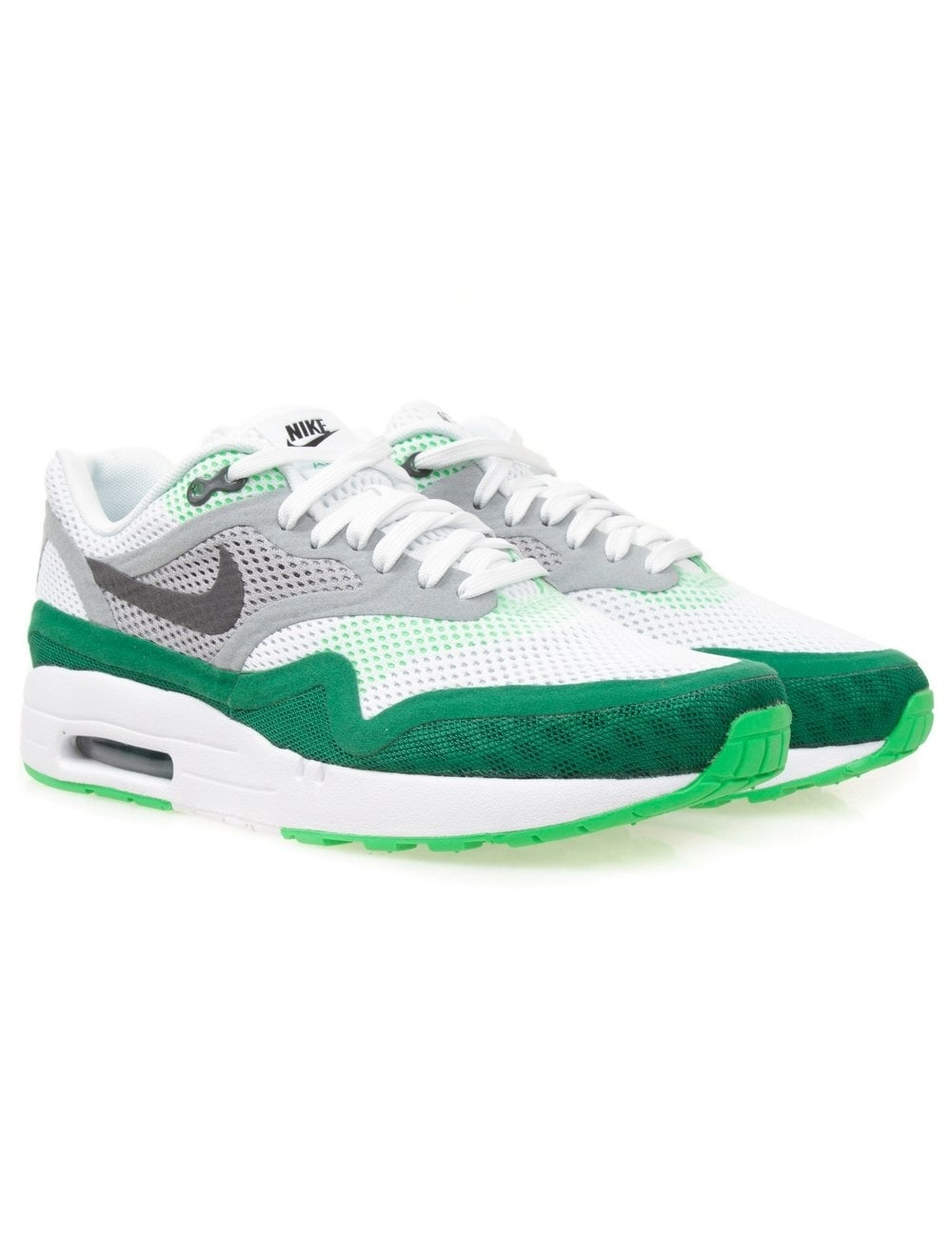 nike air max 1 breathe white pine green nike from fat. Black Bedroom Furniture Sets. Home Design Ideas