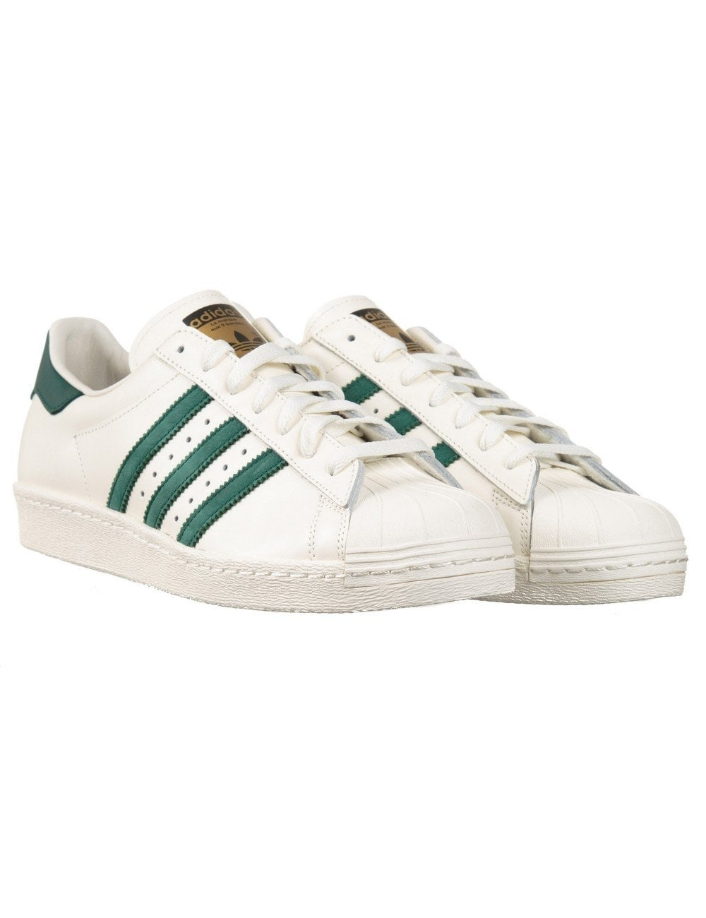 best cheap 66f43 6a0d6 Adidas Superstar White With Green Stripes ...