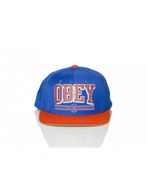 Obey Clothing Obey Athletics SnapBack - Royal Blue/Orange