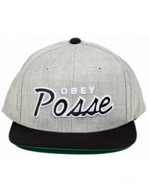 Obey Clothing Obey Posse Snapback - Heather Grey/Black