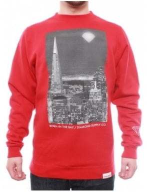 Diamond Supply Co Born In The Bay PT.2 Crew - Red