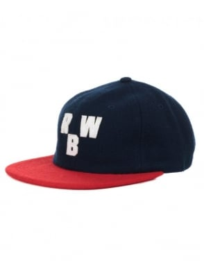 Raised by Wolves Initials Polo Cap - Scarlet/Navy