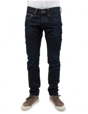 Edwin Jeans ED-55 Slim Tapered 63 Rainbow Selvedge Denim - G1 Wash