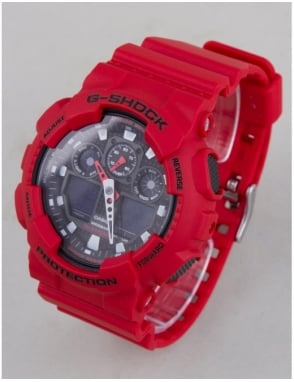 G-Shock GA-100B-4AER Watch - Red