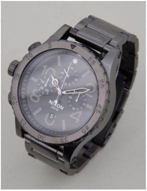 Nixon 48-20 Chrono Watch - All Gunmetal