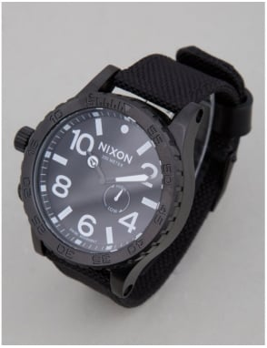 Nixon 51-30 Tide Watch - All Black Nylon