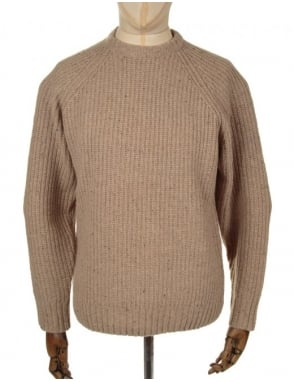 Obey Clothing Deering Knitted Jumper - Cream