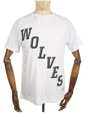 Raised by Wolves Hockey Tee - White