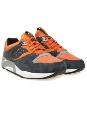 Saucony Grid 9000 (Spice Pack) - Grey/Orange Spice