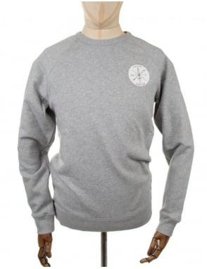 Nike SB X Poler Crewneck Sweatshirt - Heather Grey
