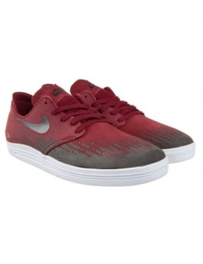 Nike SB Lunar One Shot Shoes - Team Red