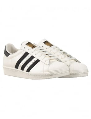 Adidas Originals Superstar 80s Delux Shoes - Vintage White/Black