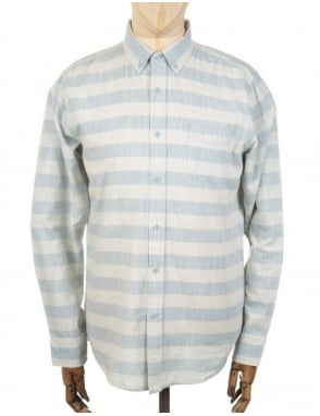 Obey Clothing L/S Dover Woven Shirt - Blue/Multi