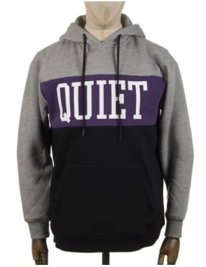 The Quiet Life Quiet Hooded Sweat - Grey/Purple