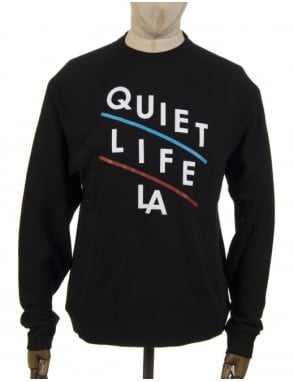 The Quiet Life Slant Logo Sweatshirt - Black