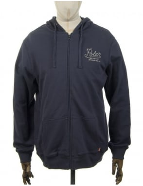 Poler Dreams/Venn Zip Hooded Sweat - Indigo