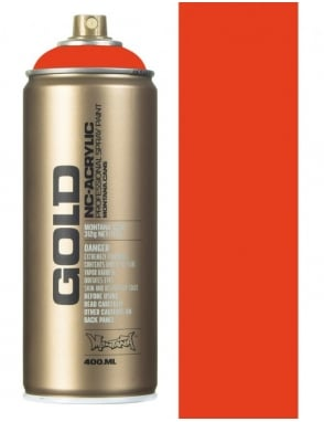 Montana Gold Red Orange Spray Paint - 400ml