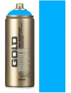 Montana Gold Flourescent Flame Blue Spray Paint - 400ml