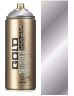 Montana Gold Silver Chrome Spray Paint - 400ml