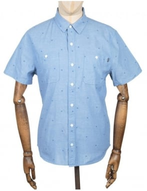Huf S/S Payday Chambray Shirt - Blue