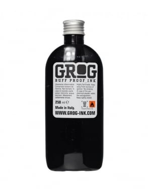 Grog Ink Buff Proof Ink Refill 200ml - Death Black