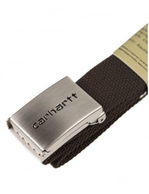 Carhartt Clip Belt Chrome - Blackforest