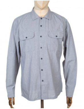 Obey Clothing L/S Hillston Woven Shirt - Grey