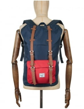 Herschel Supply Co Little America 25L Backpack - Navy/Red