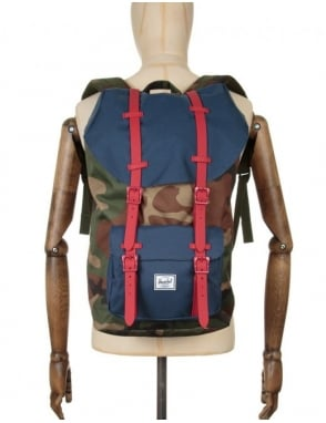 Herschel Supply Co Little America 25L Backpack - Woodland Camo/Navy