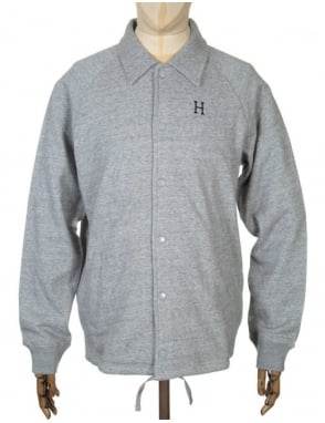 Huf Fleece Coach Jacket - Heather Grey