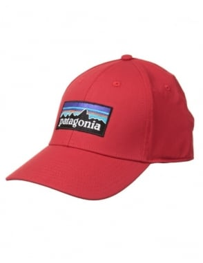 Patagonia P-6 Logo Stretch Hat - Totally Red