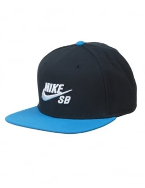Nike SB Icon Logo Pro Snapback Hat - Dark Obsidian/Photo Blue