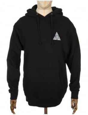 Huf Triple Triangle Concrete Hooded Sweat - Black