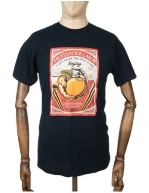 Obey Clothing Fruits of our Labour T-shirt - Navy