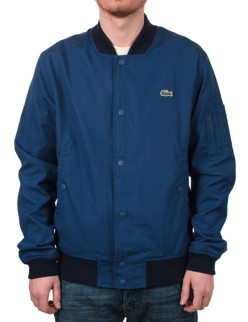 lacoste live blouson bomber jacket blue lacoste live from fat buddha store uk. Black Bedroom Furniture Sets. Home Design Ideas