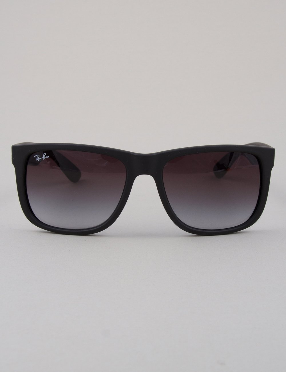 Ray Ban Justin Sunglasses Black Rubber Grey Gradient