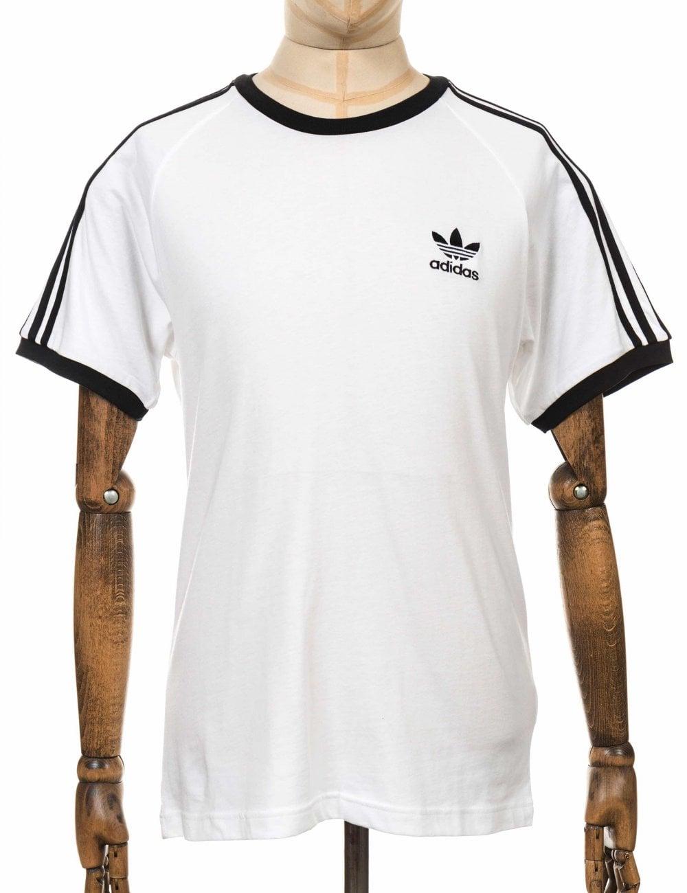 3 Stripe Trefoil Tee - White/Black
