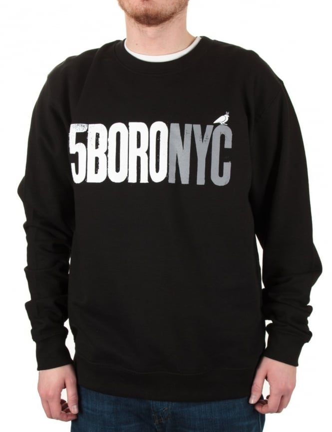 5 Boro Letterpress Sweat - Blk/Grey
