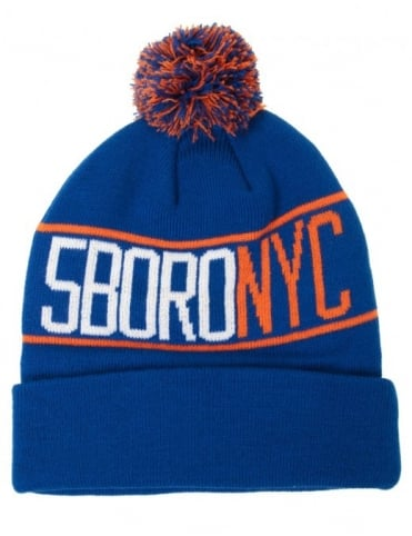 NYC Pom Pom Beanie - Royal
