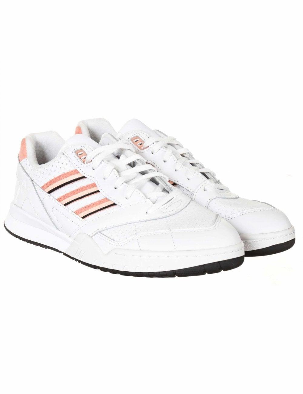 venta limitada mejor proveedor mejor valor Adidas Originals A.R. Trainers - Footwear White/Glow Pink ...