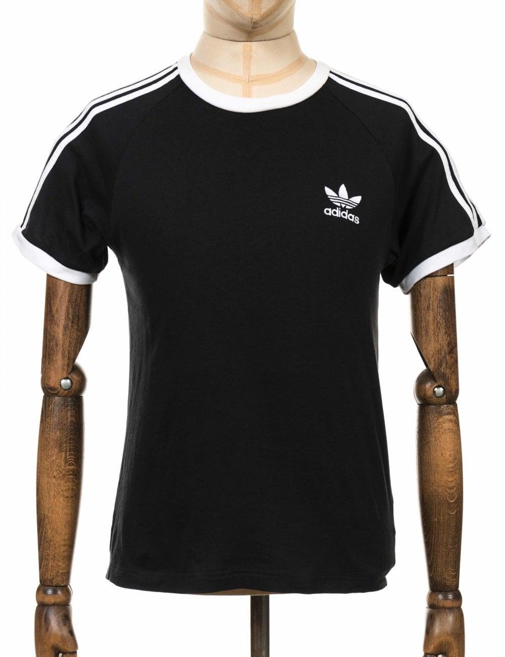 932dd4c05a5 Adidas Originals 3 Stripe Trefoil Tee - Black/White - Clothing from ...