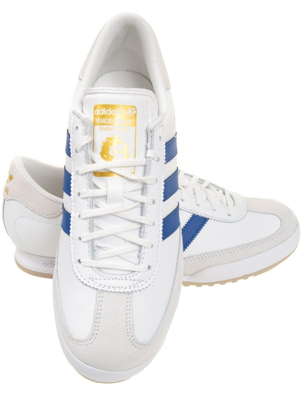 white beckenbauer trainers