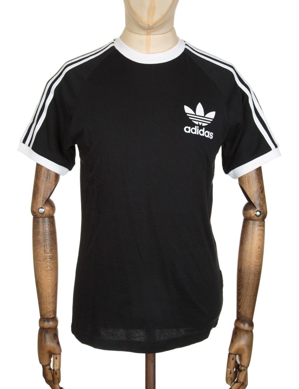 0a3733fd4a9bd3 Adidas Originals California Flock Tee - Black White - Clothing from ...