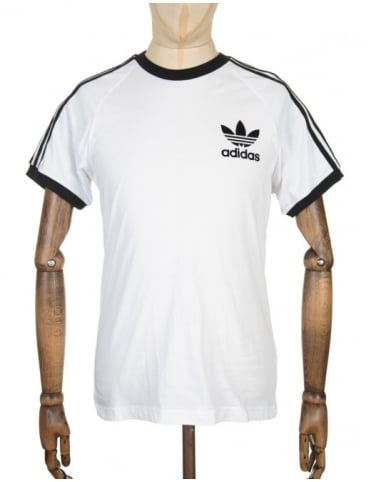 Adidas Originals California Flock T-shirt - White/Black