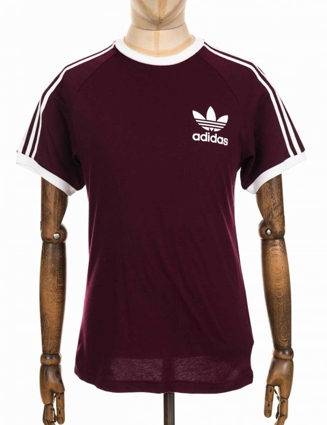 adidas originals california tshirt maroonwhite