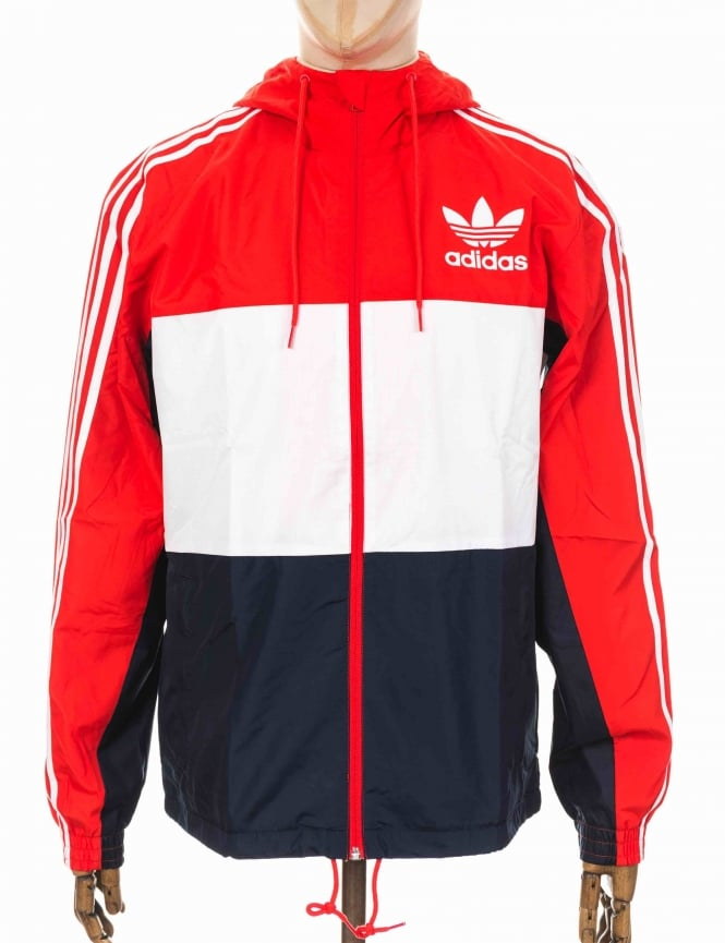 Adidas Originals California Wind Breaker Jacket - Core Red