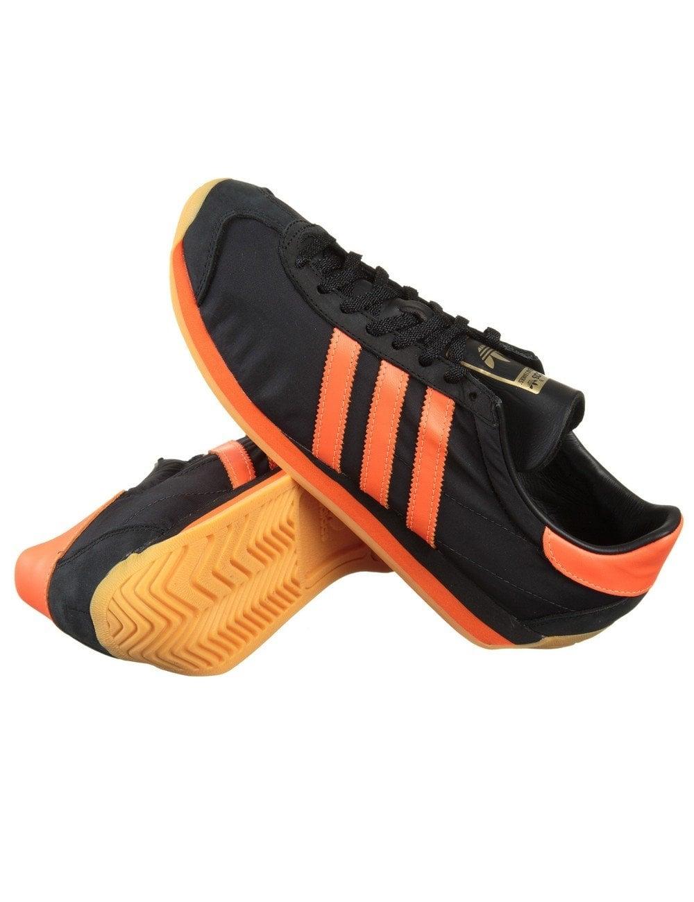 Adidas Originals Country og zapatos Core Negro / naranja Solar