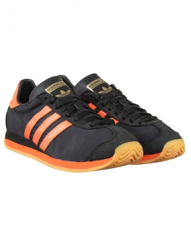 Adidas Originals Country OG Shoes - Core Black/Solar Orange