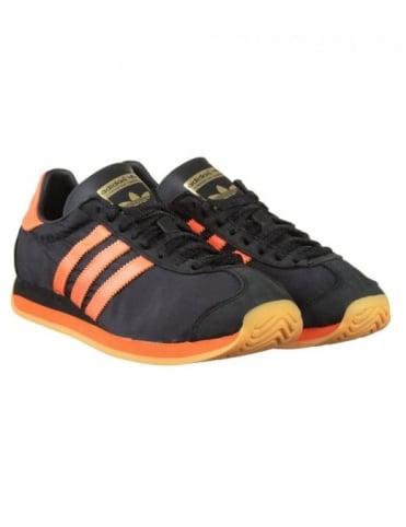Adidas Originals Country OG Shoes - Core Black/Solar Orange